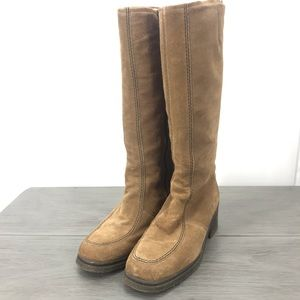 Pajar vintage winter boots after ski suede sheep's wool lining knee high size10